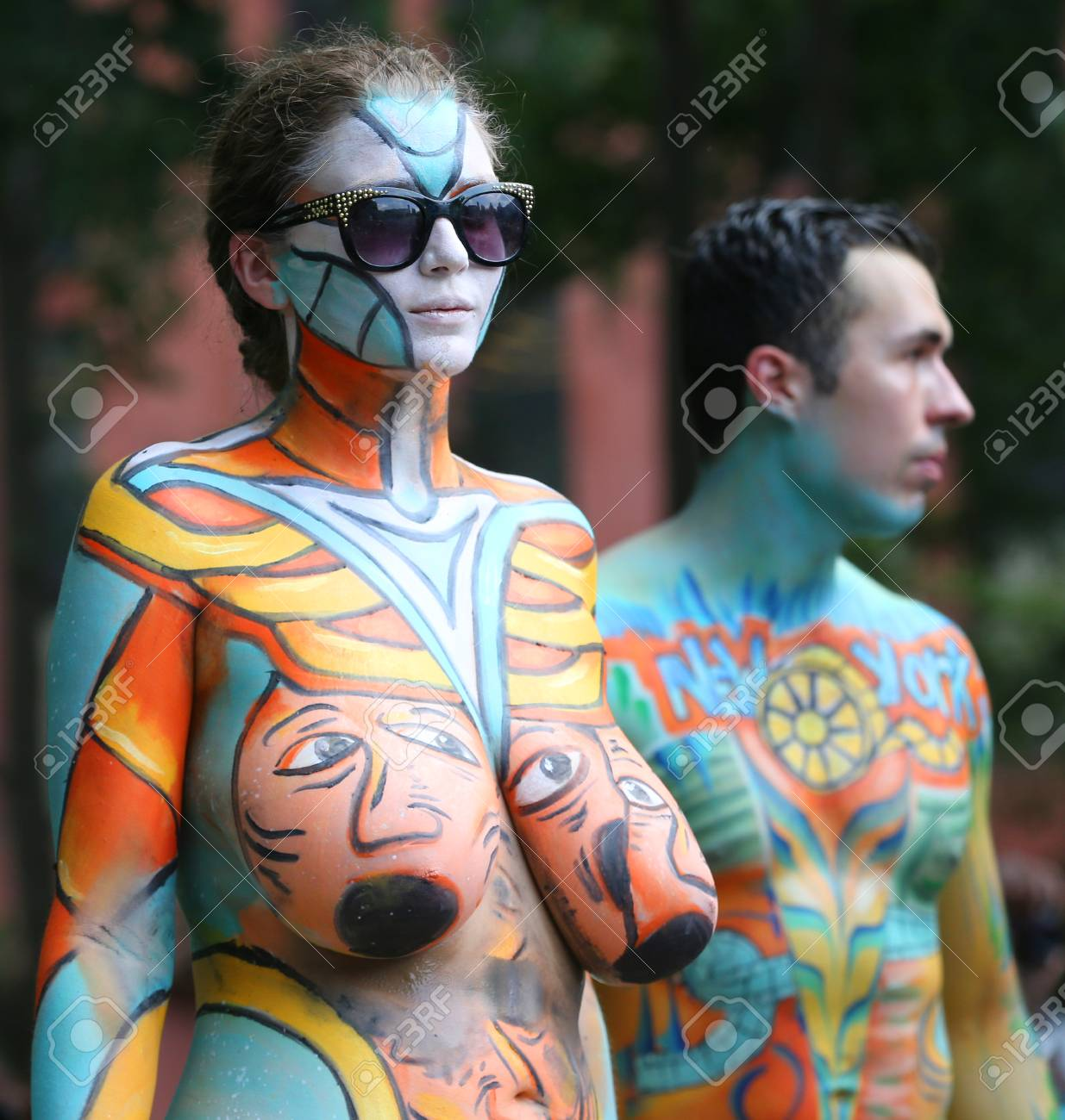 Nude body Painting foto 2